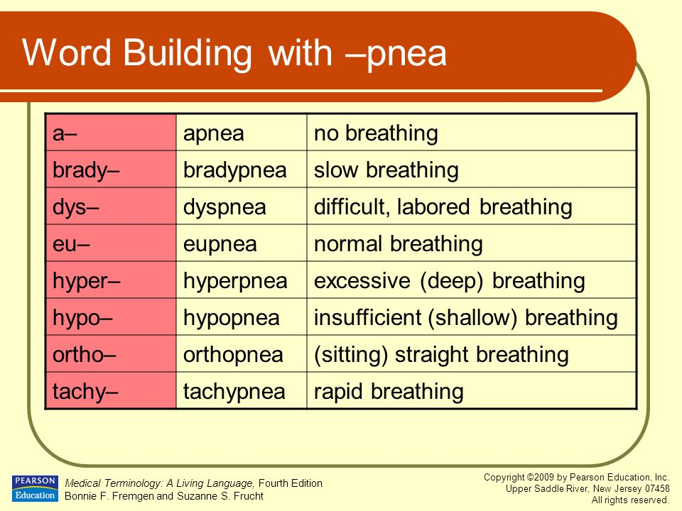 Word Building with –pnea