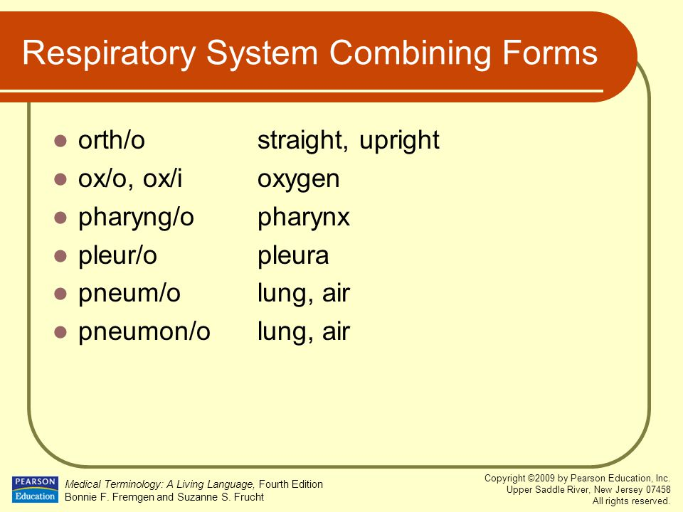 Respiratory System Combining Forms