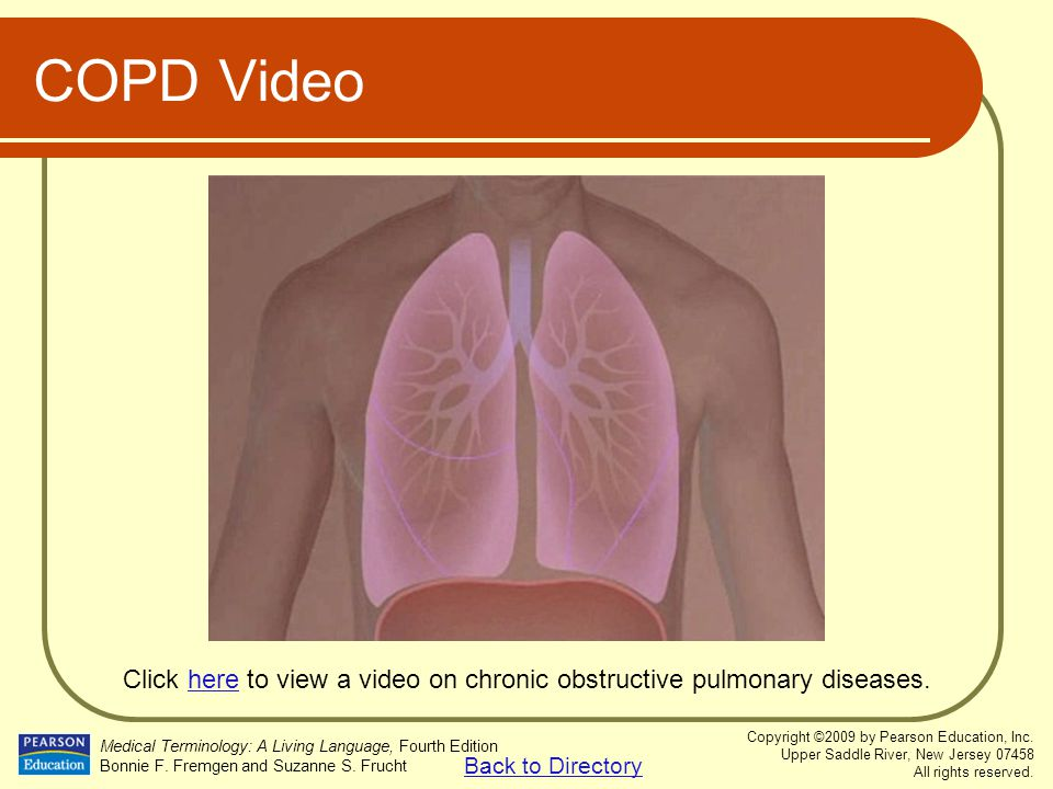 Click here to view a video on chronic obstructive pulmonary diseases.