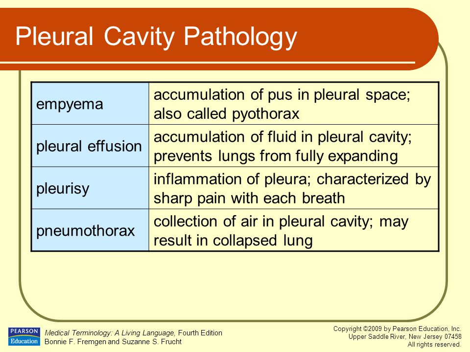 Pleural Cavity Pathology