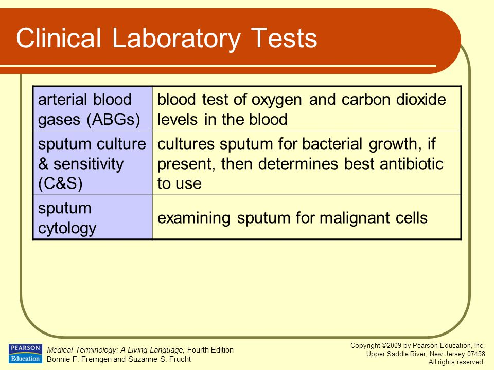 Clinical Laboratory Tests