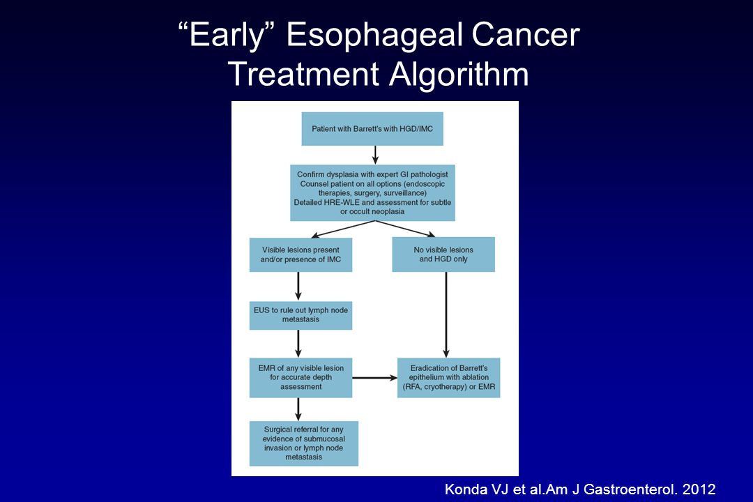 Early Esophageal Cancer Treatment Algorithm
