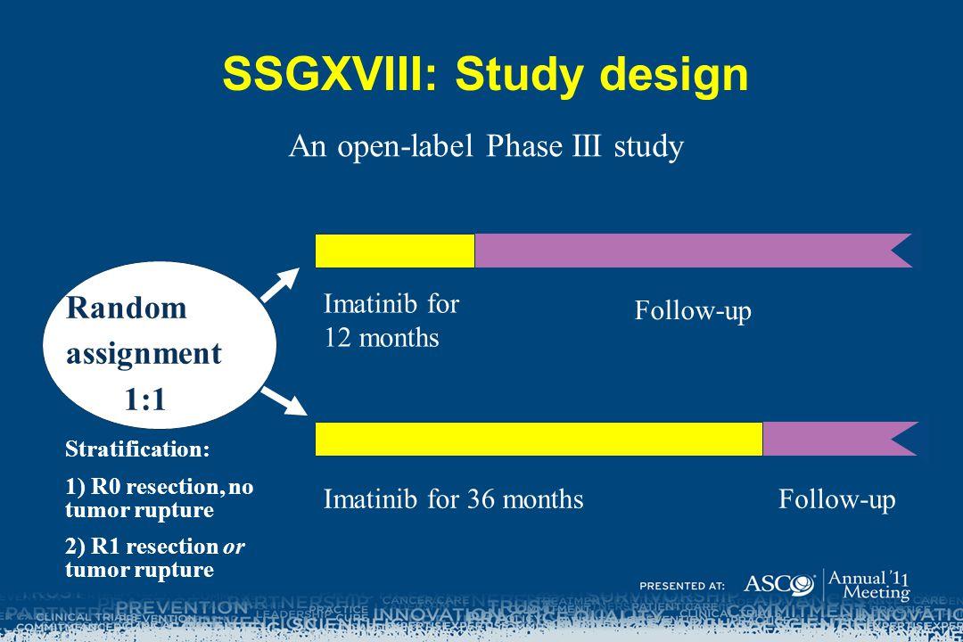 SSGXVIII: Study design