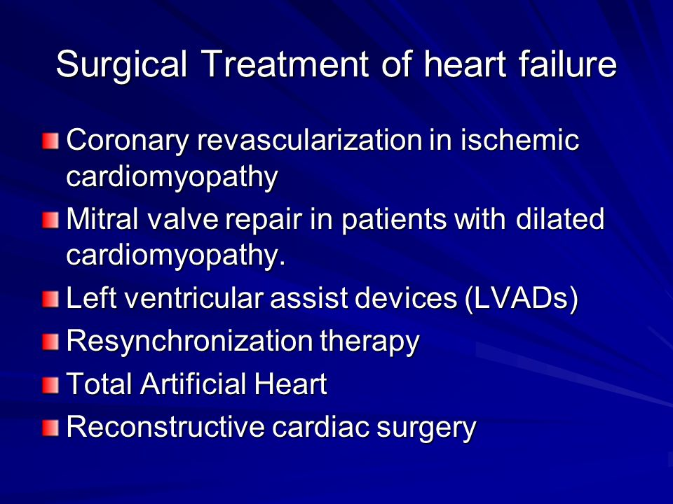Surgical Treatment of heart failure