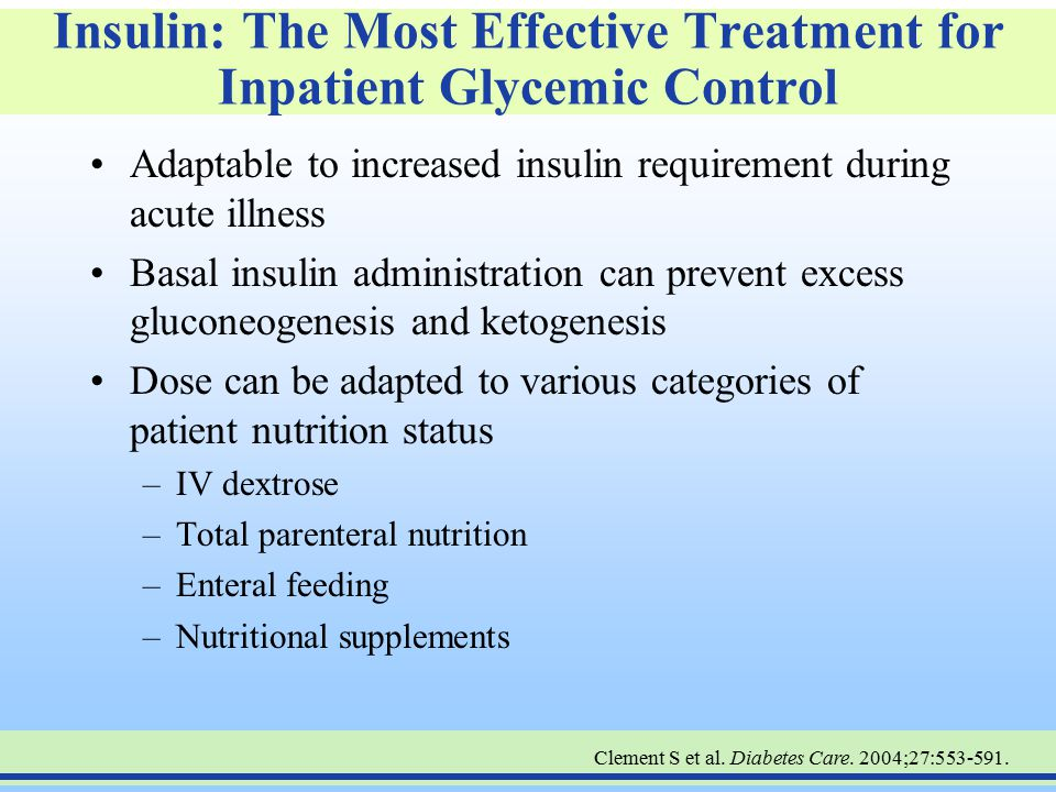 Insulin: The Most Effective Treatment for Inpatient Glycemic Control