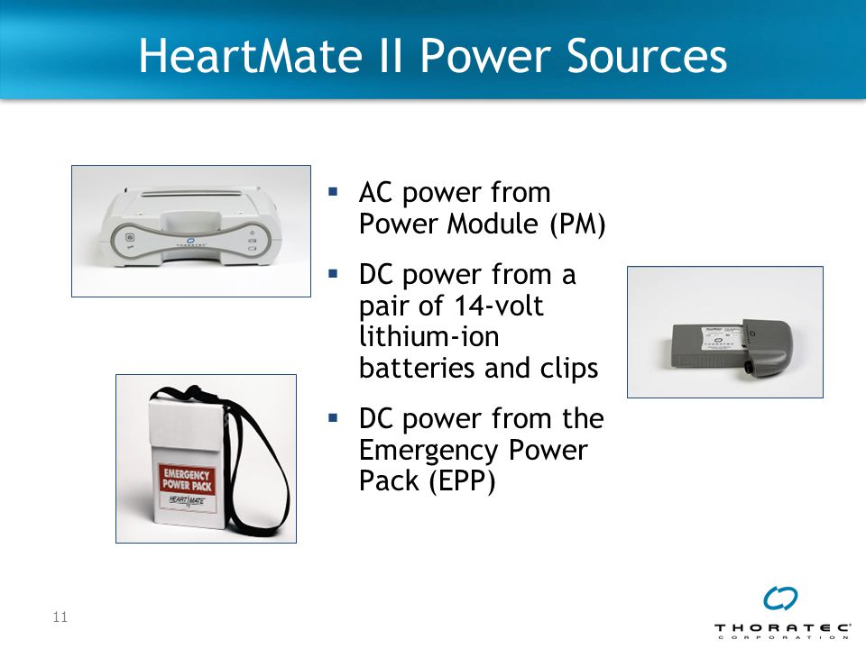 HeartMate II Power Sources