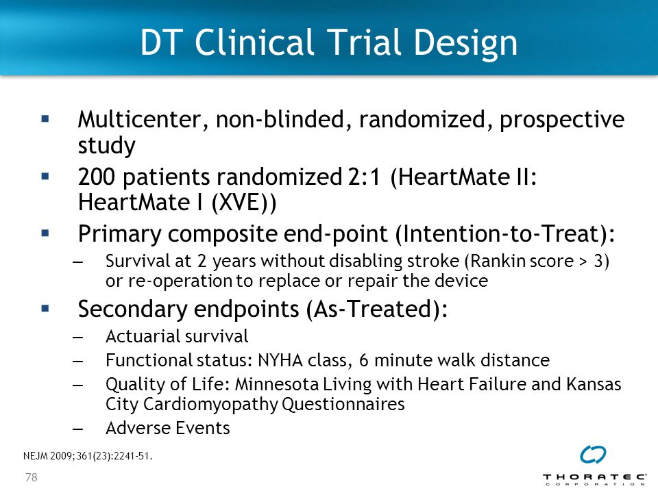 DT Clinical Trial Design