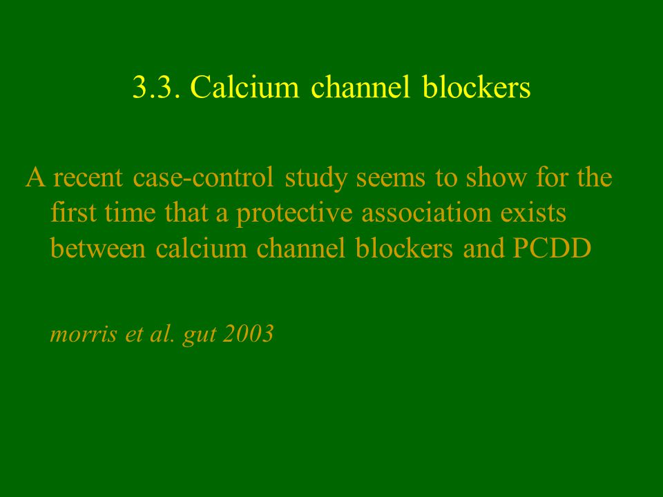 3.3. Calcium channel blockers