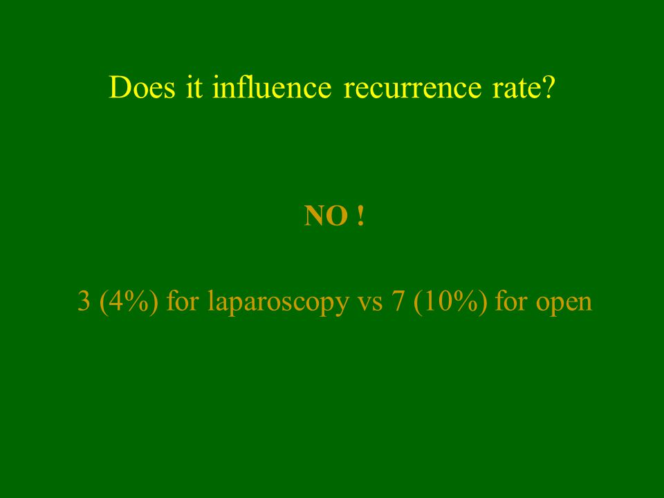 Does it influence recurrence rate