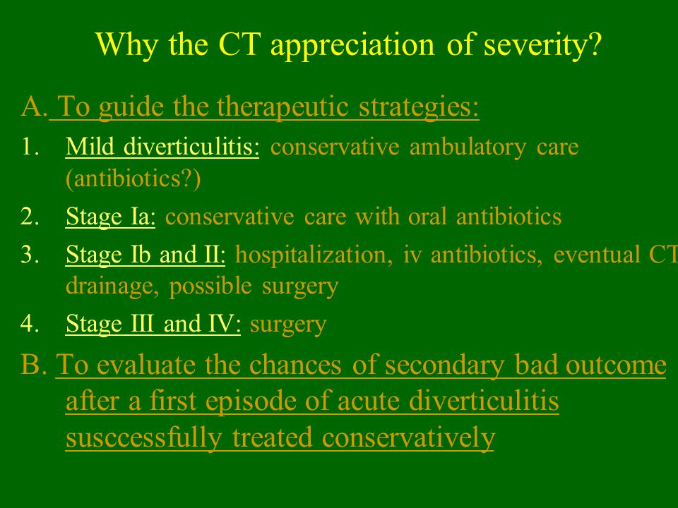 Why the CT appreciation of severity