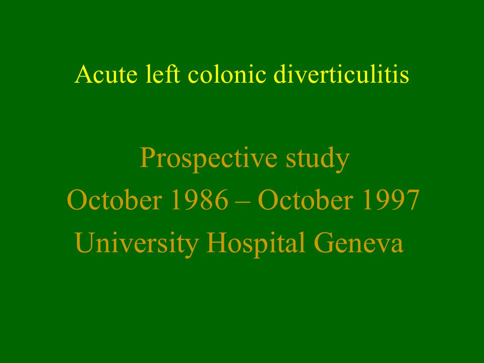 Acute left colonic diverticulitis