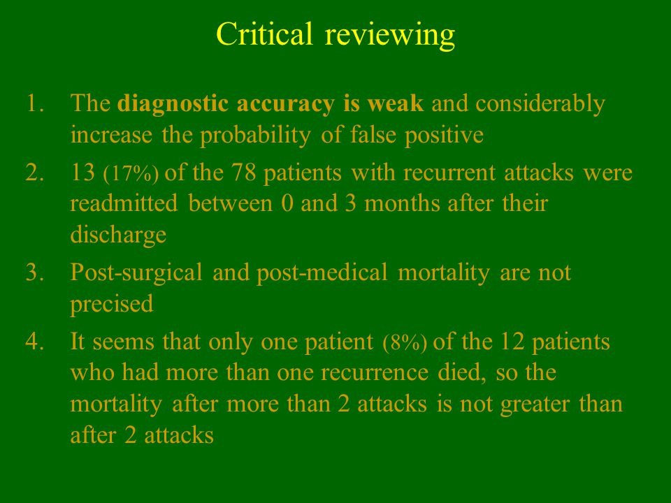 Critical reviewing The diagnostic accuracy is weak and considerably increase the probability of false positive.