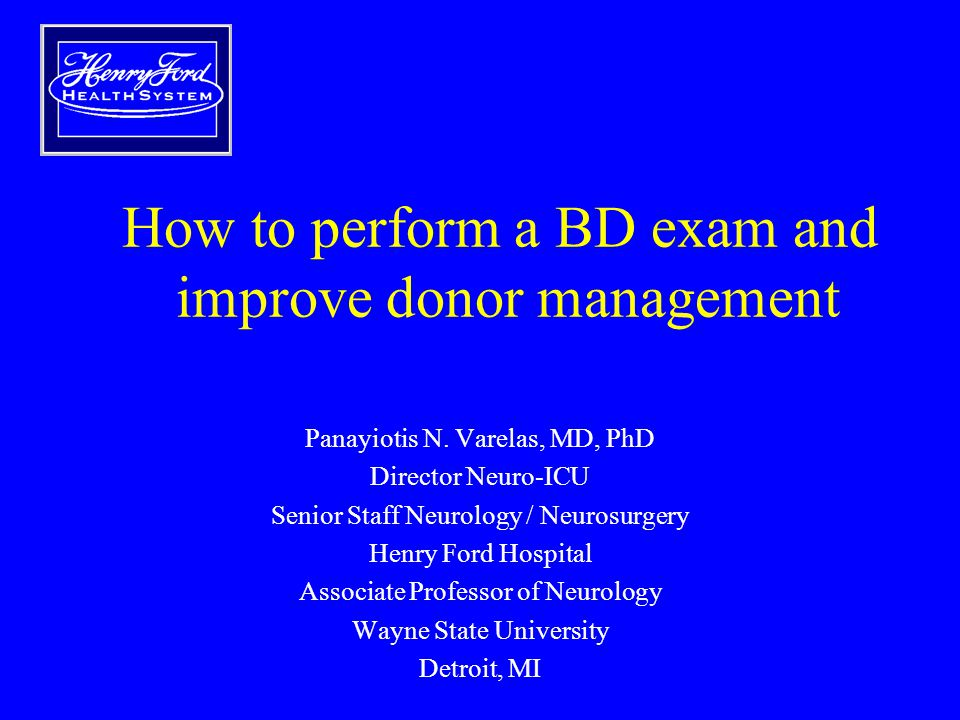 How to perform a BD exam and improve donor management