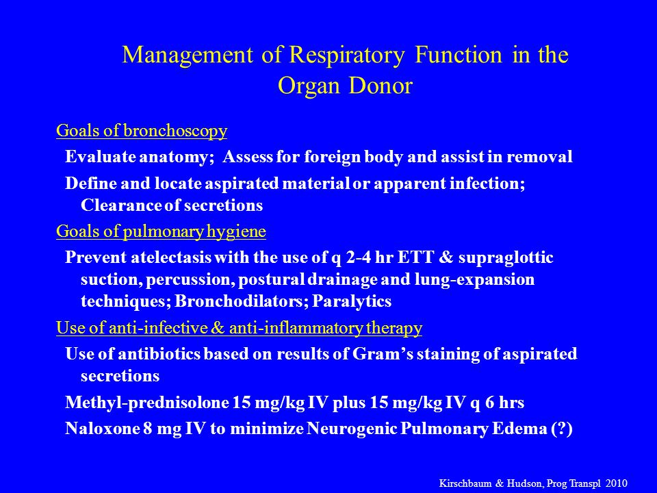 Management of Respiratory Function in the Organ Donor