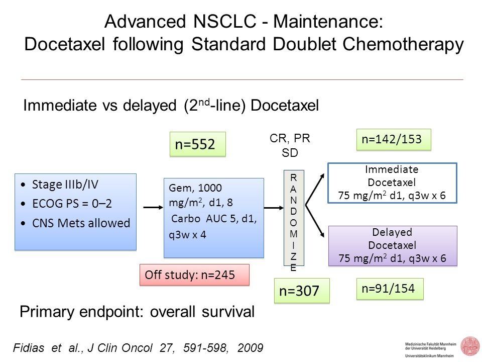 Advanced NSCLC - Maintenance: