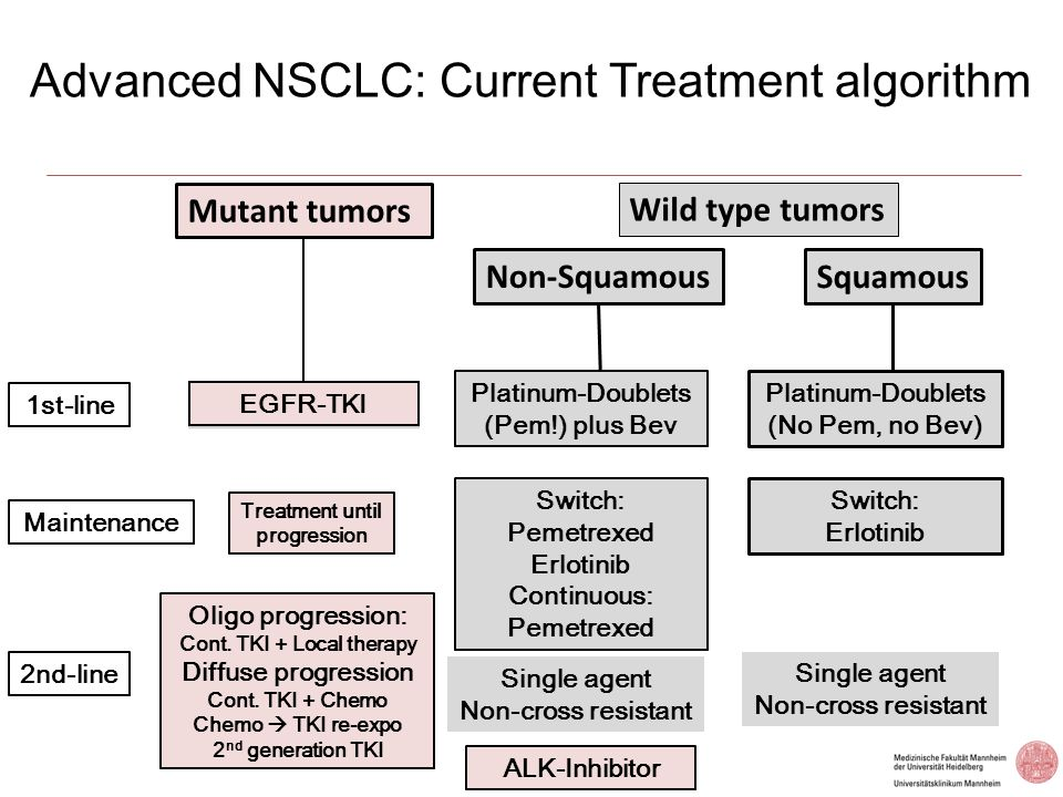Advanced NSCLC: Current Treatment algorithm