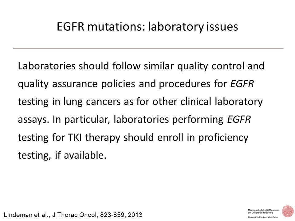 EGFR mutations: laboratory issues
