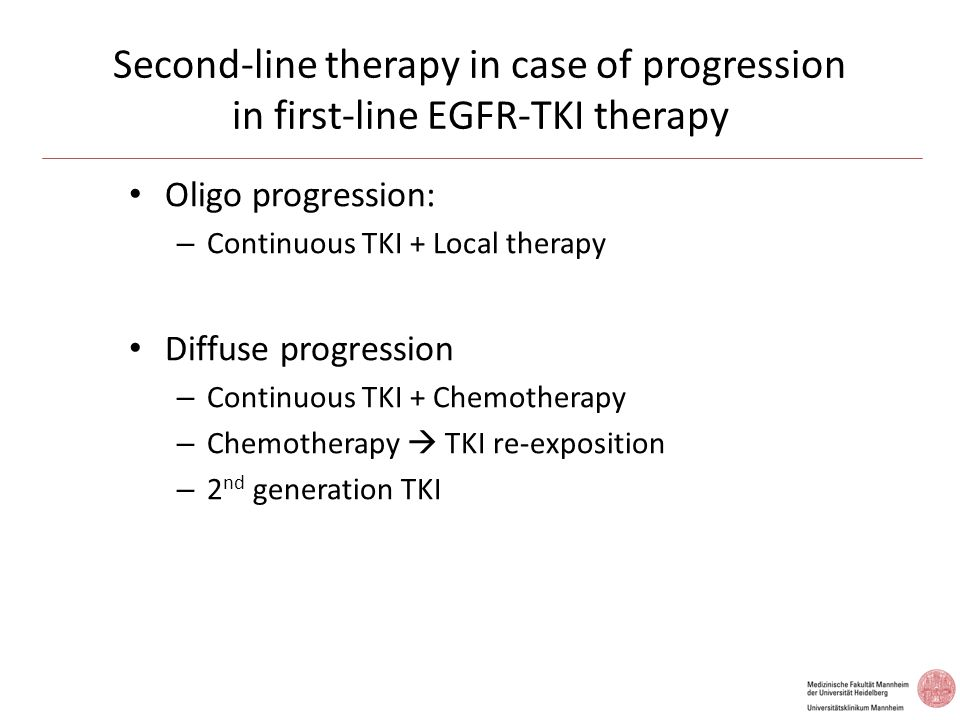 Second-line therapy in case of progression in first-line EGFR-TKI therapy