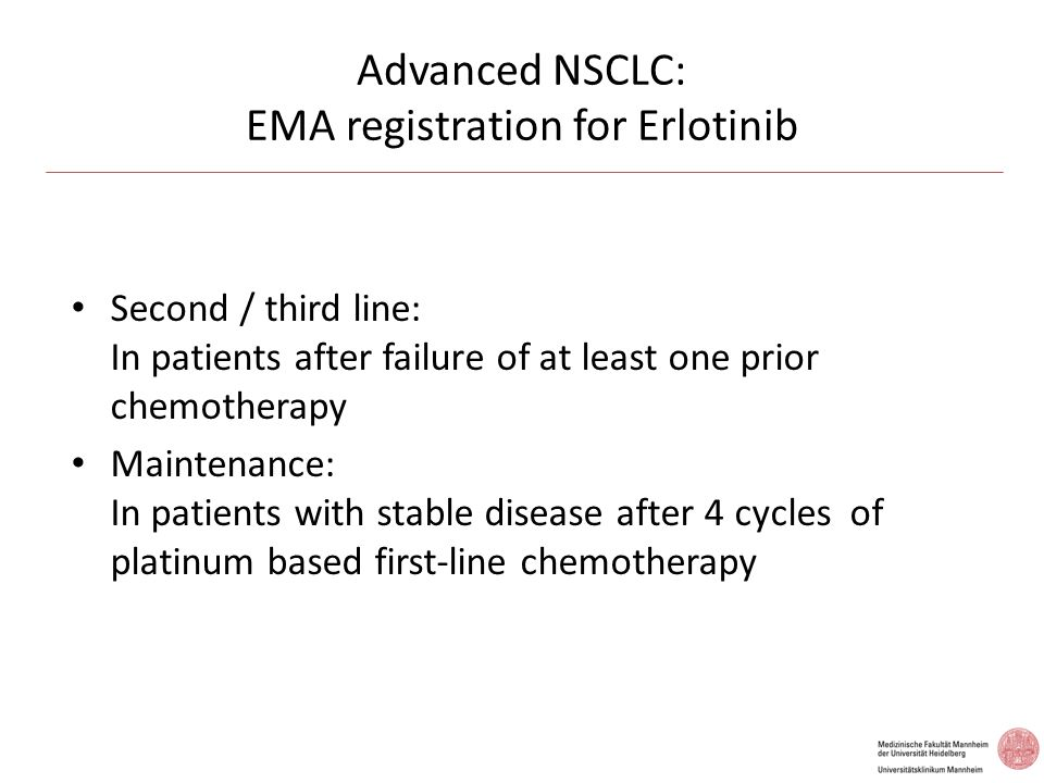 Advanced NSCLC: EMA registration for Erlotinib
