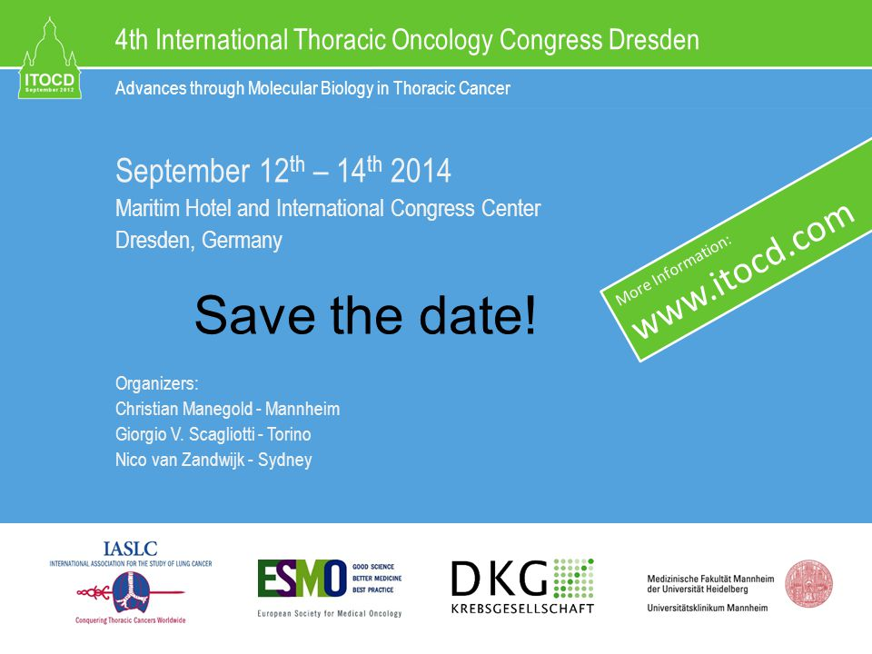 4th International Thoracic Oncology Congress Dresden