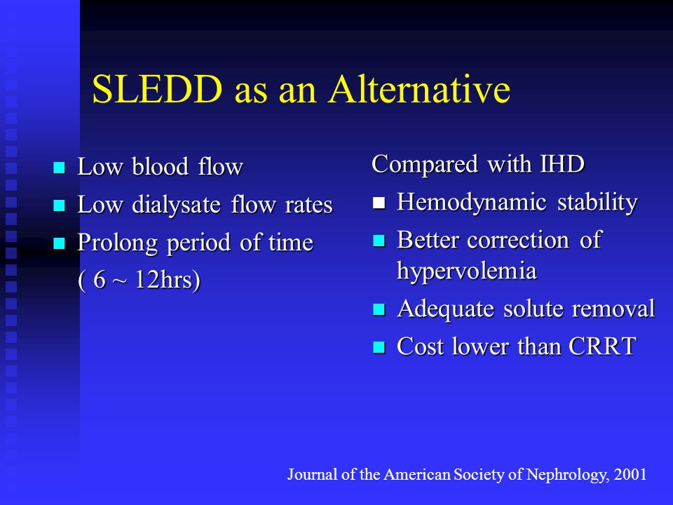 SLEDD as an Alternative