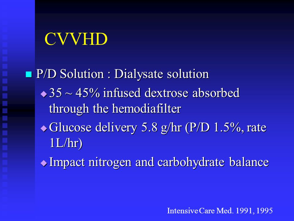 CVVHD P/D Solution : Dialysate solution