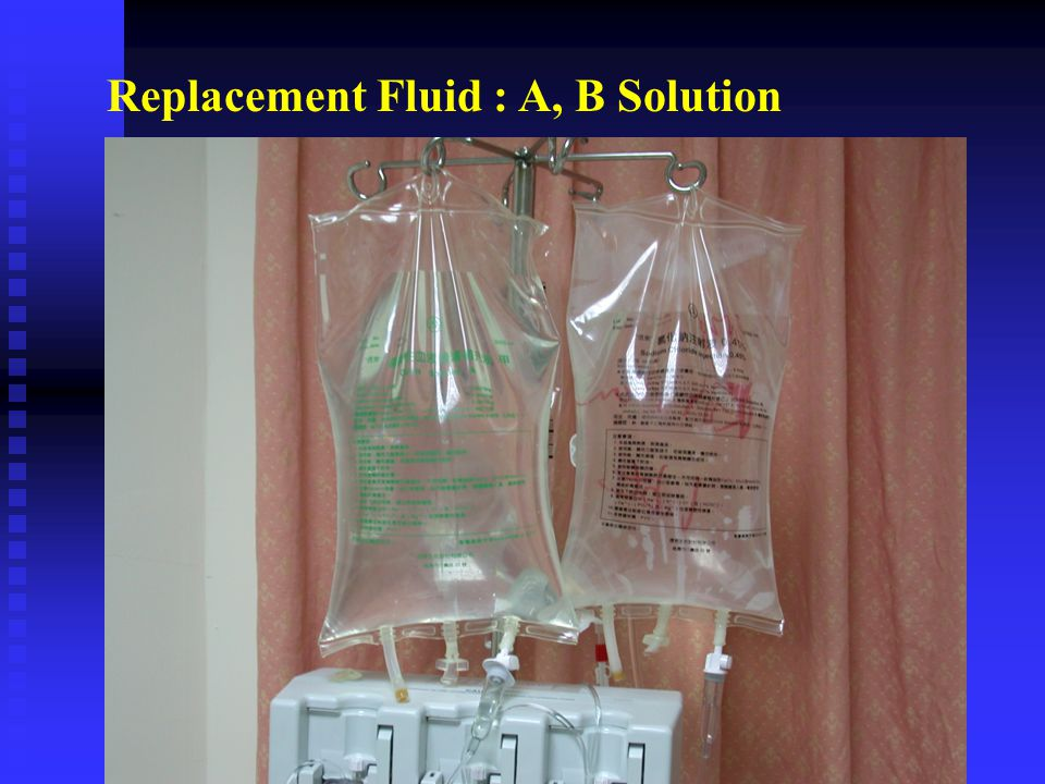 Replacement Fluid : A, B Solution