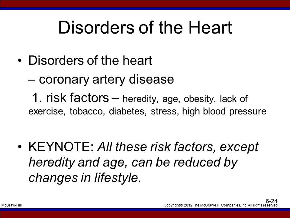 Disorders of the Heart Disorders of the heart