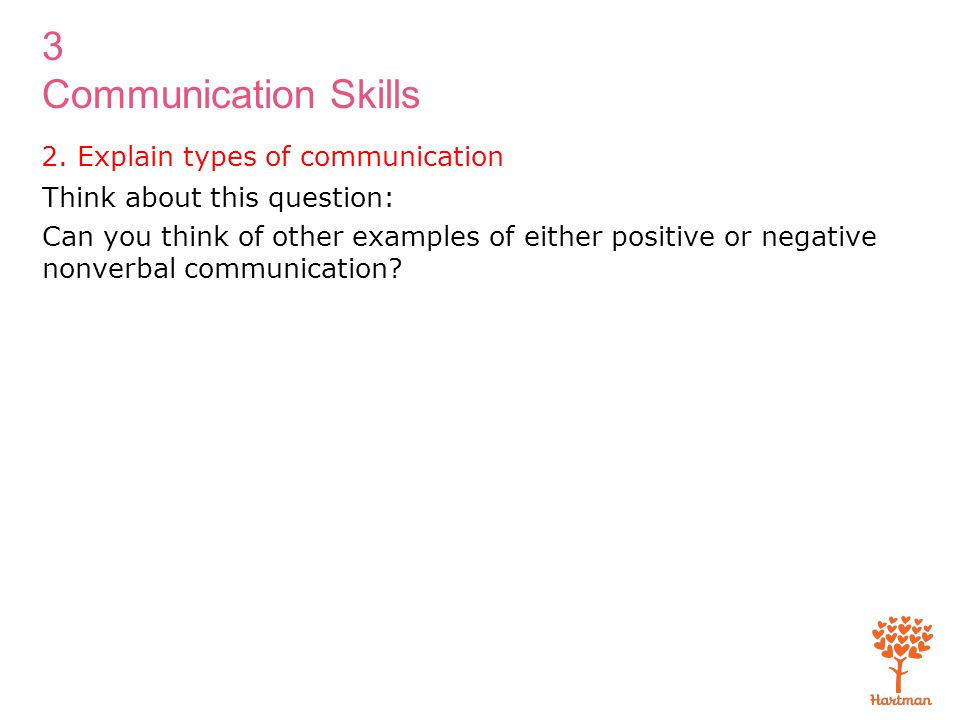 2. Explain types of communication
