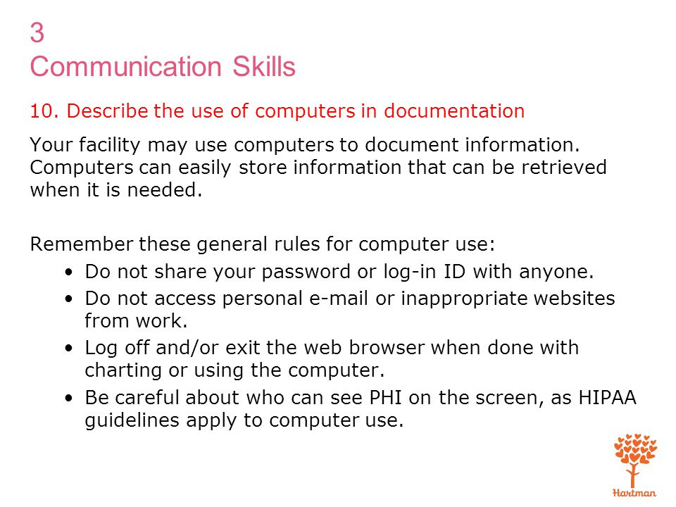 10. Describe the use of computers in documentation