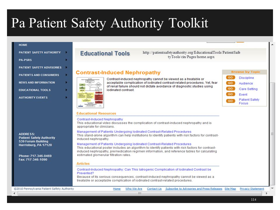 Pa Patient Safety Authority Toolkit