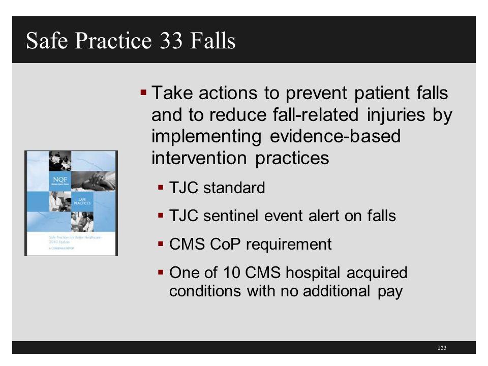 Safe Practice 33 Falls