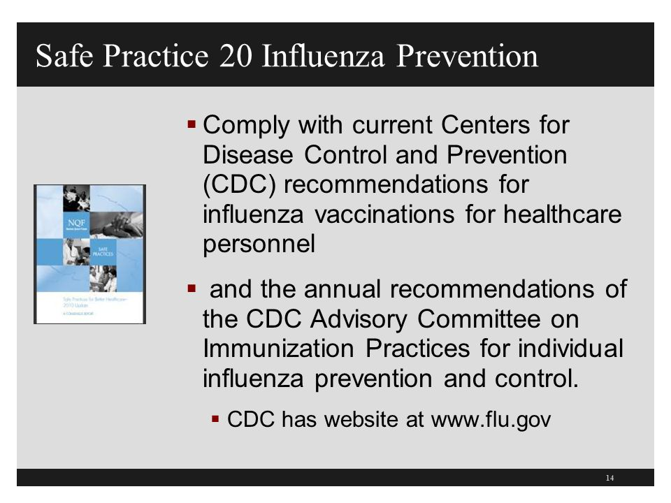 Safe Practice 20 Influenza Prevention