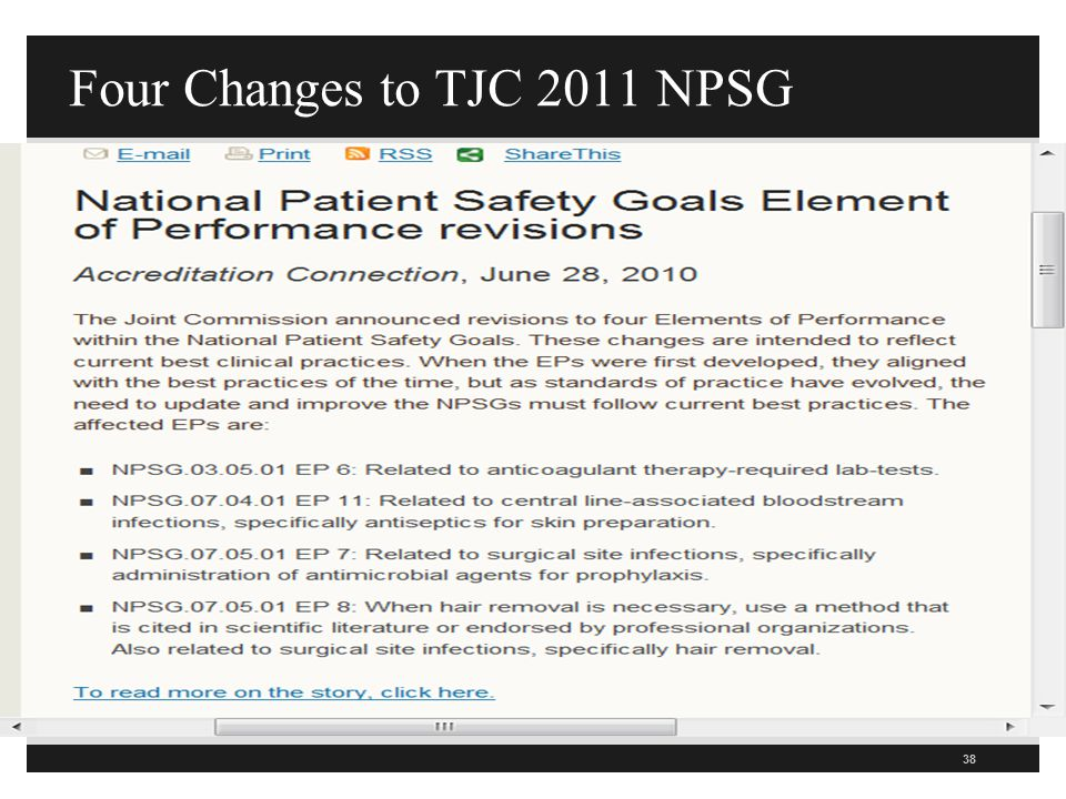 Four Changes to TJC 2011 NPSG