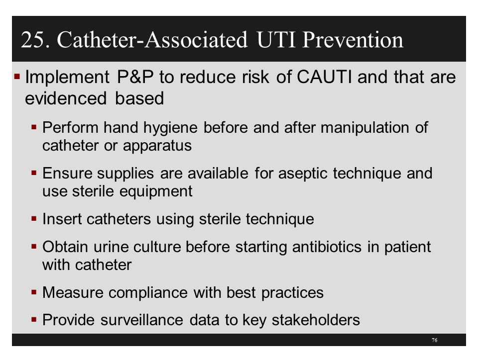 25. Catheter-Associated UTI Prevention