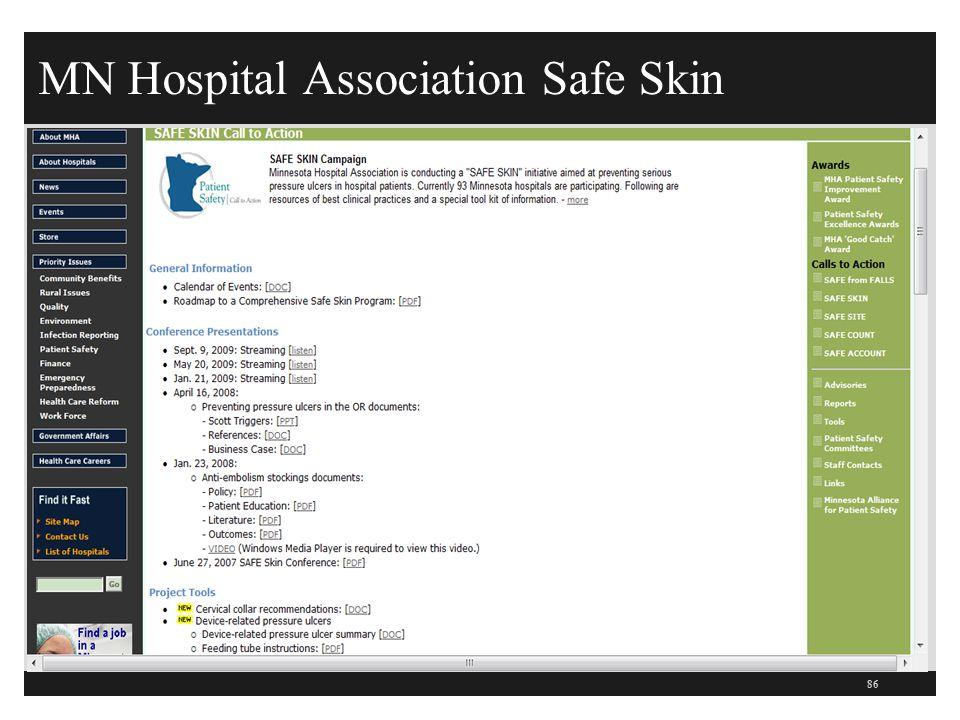 MN Hospital Association Safe Skin