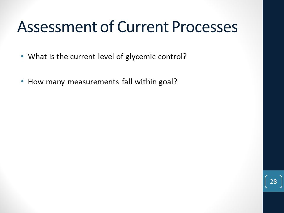 Assessment of Current Processes