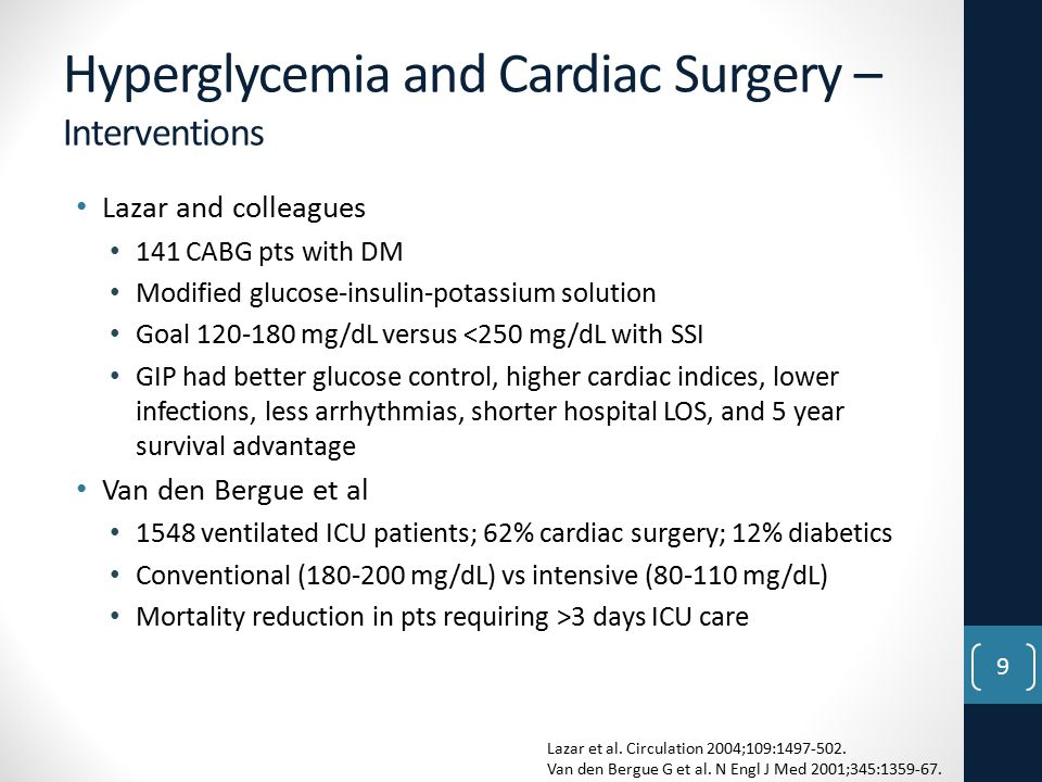 Hyperglycemia and Cardiac Surgery – Interventions