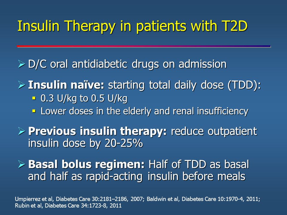 Insulin Therapy in patients with T2D