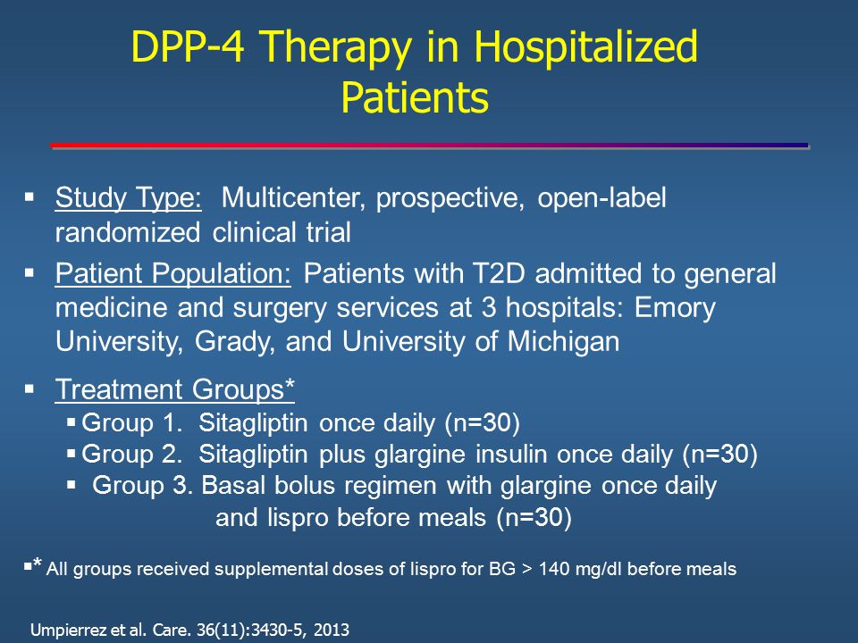 DPP-4 Therapy in Hospitalized Patients