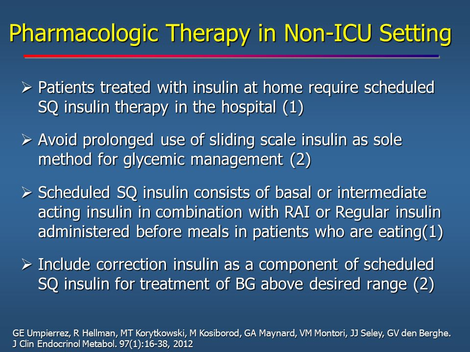 Pharmacologic Therapy in Non-ICU Setting