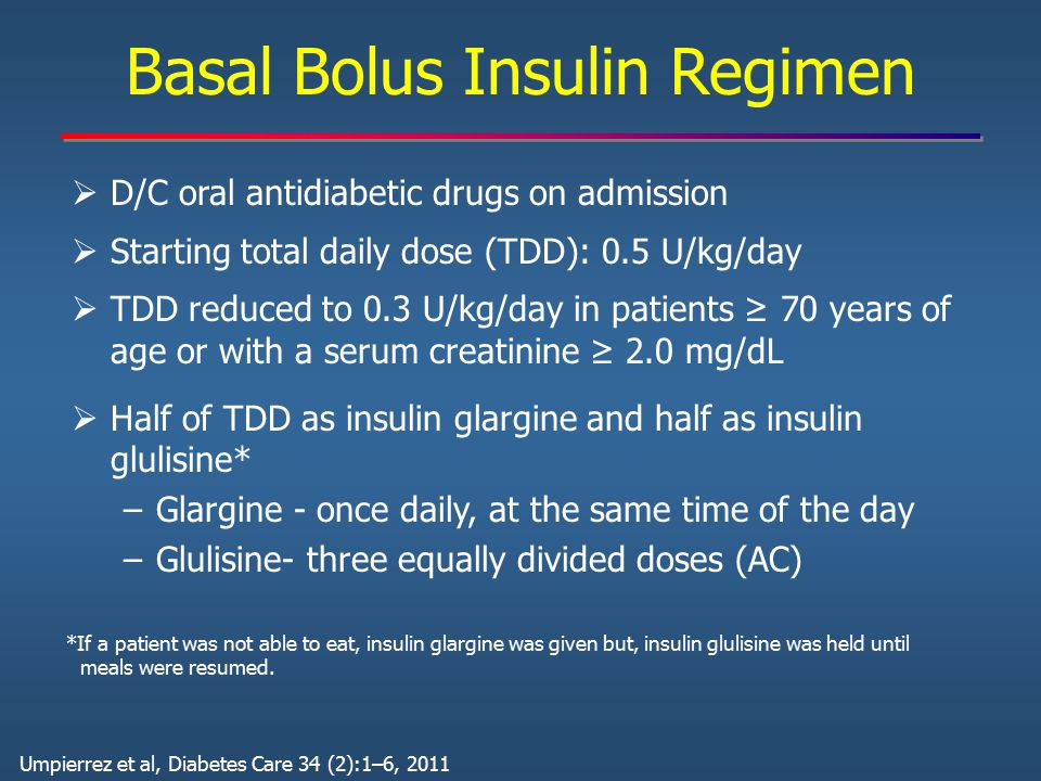 Basal Bolus Insulin Regimen