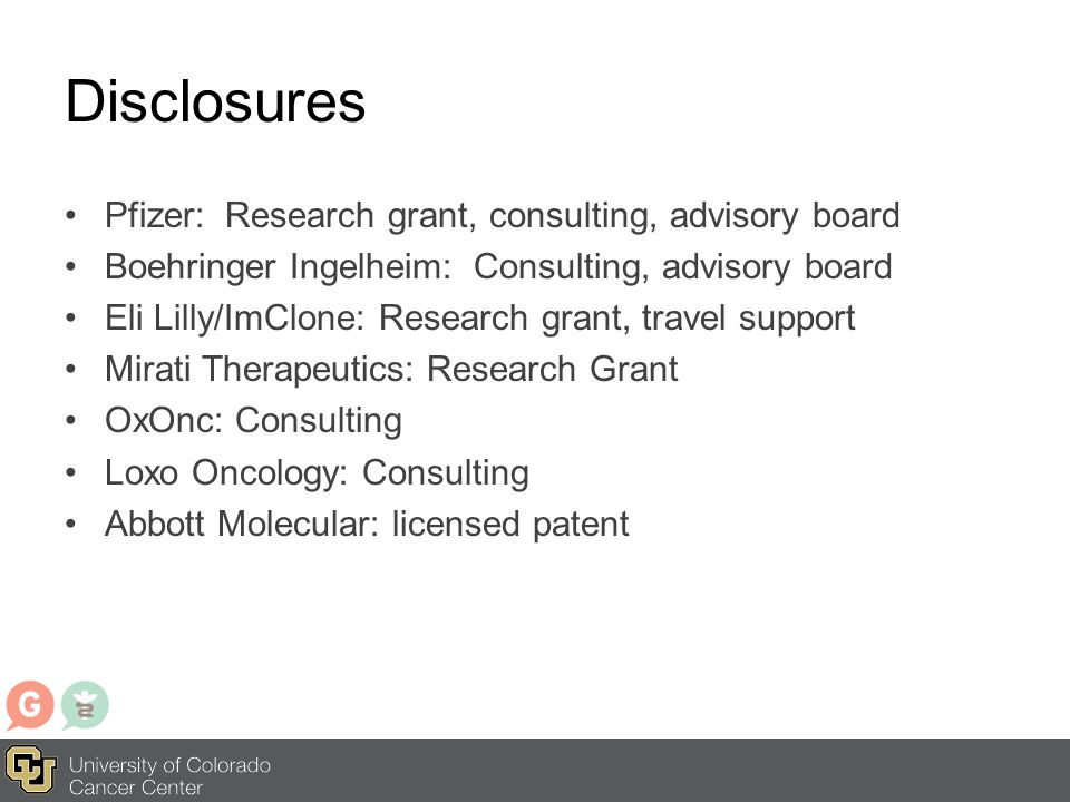 Disclosures Pfizer: Research grant, consulting, advisory board