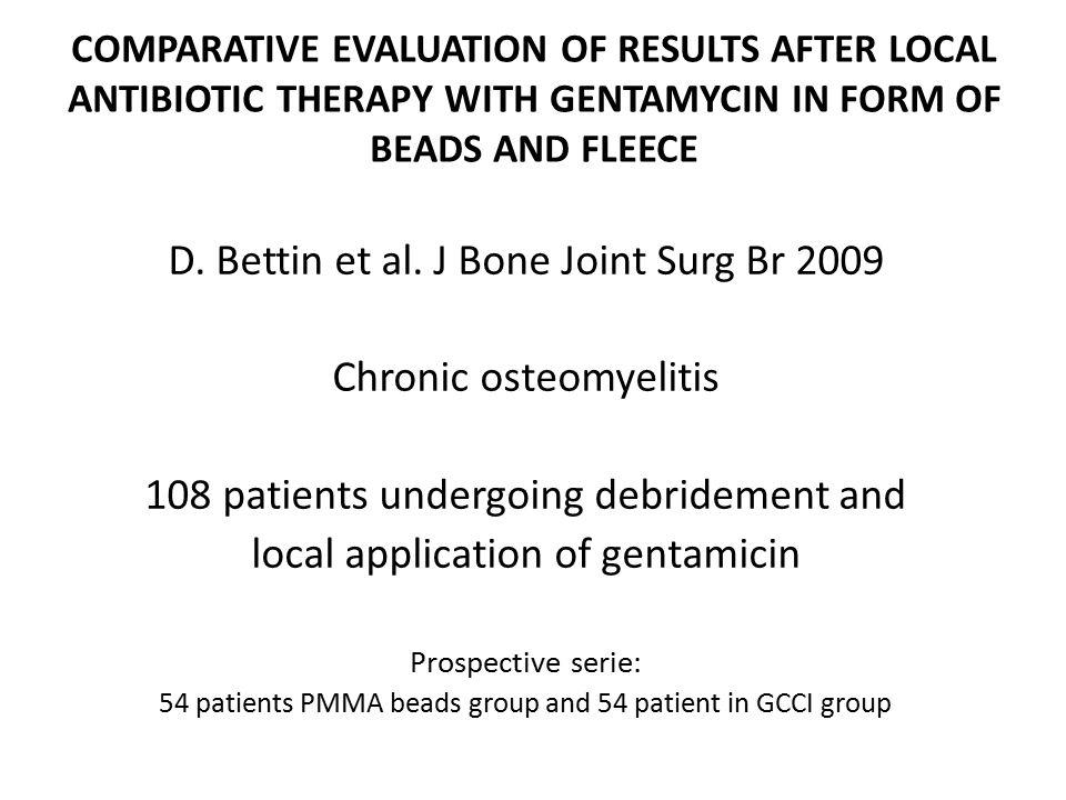 D. Bettin et al. J Bone Joint Surg Br 2009 Chronic osteomyelitis