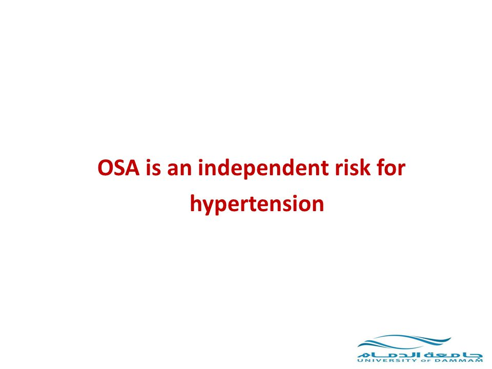 OSA is an independent risk for