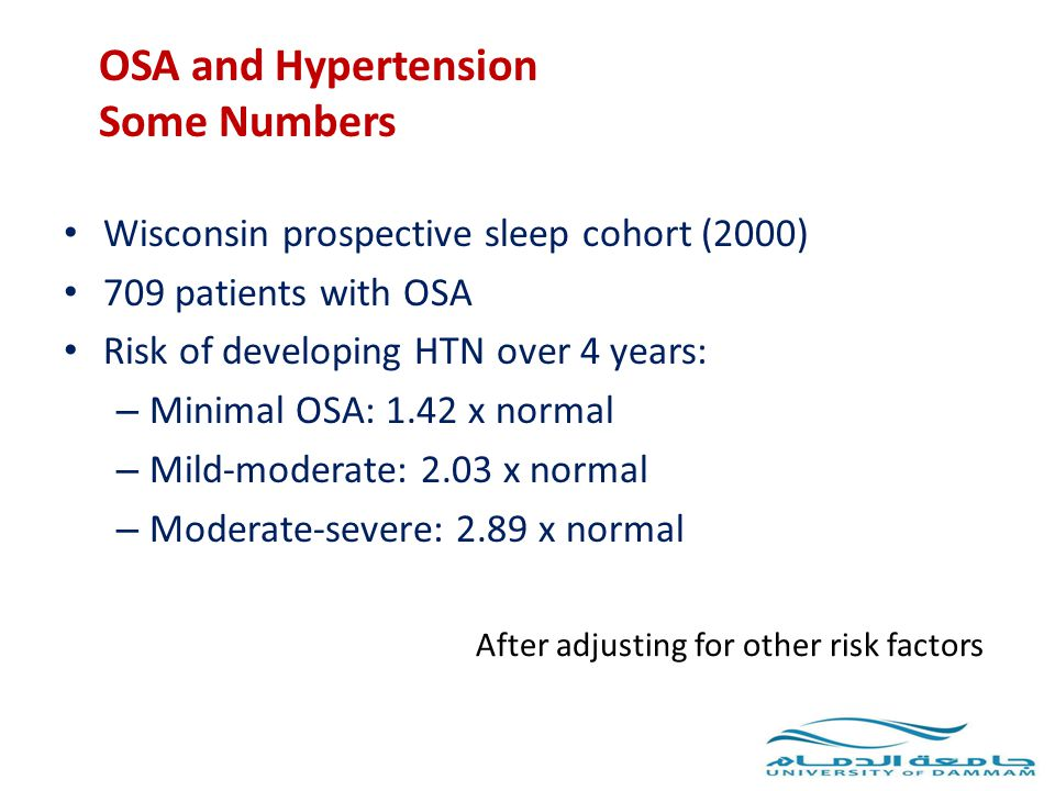 OSA and Hypertension Some Numbers