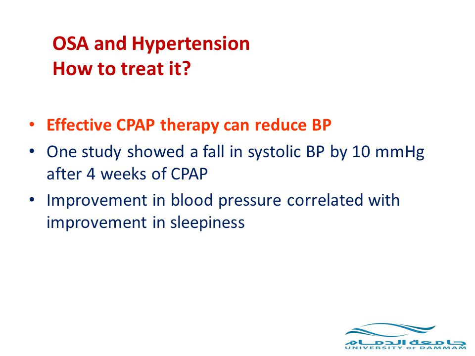 OSA and Hypertension How to treat it