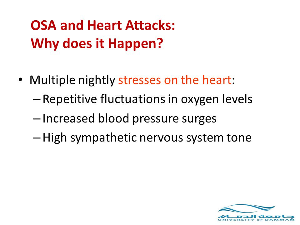 OSA and Heart Attacks: Why does it Happen