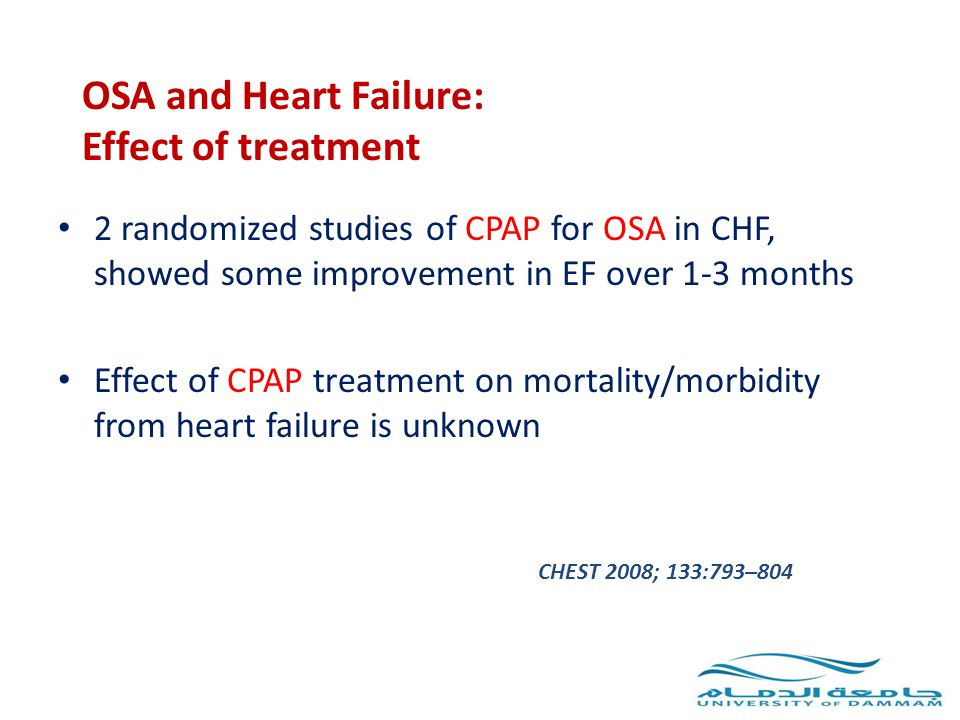 OSA and Heart Failure: Effect of treatment
