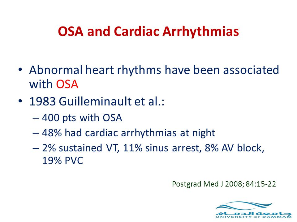 OSA and Cardiac Arrhythmias